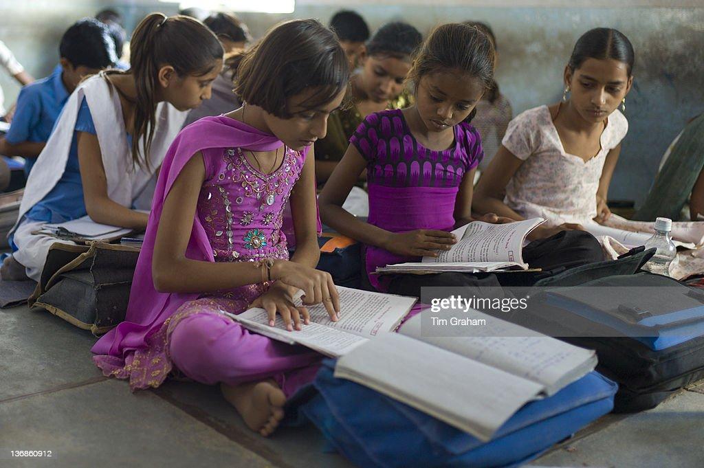 Indian School, Rajasthan, India : News Photo