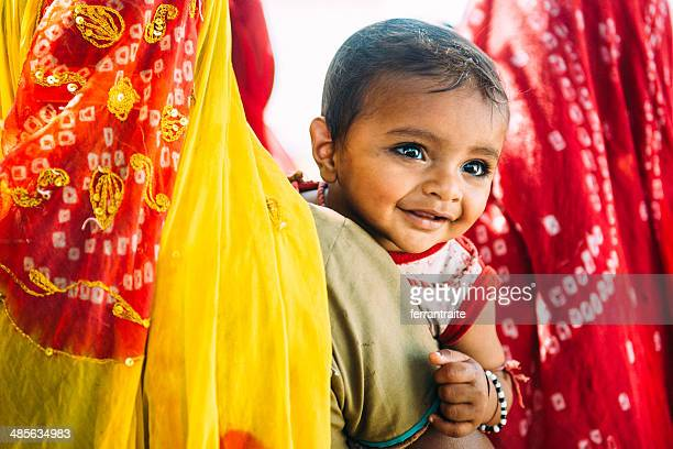 indian children - indian baby stock photos and pictures