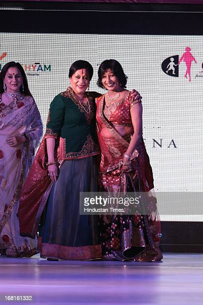 Indian classical dancers Sonal Mansingh and Shovana Narayan at the Annual Charity event Fashion For A Cause organized by NGO Lakshyam to help...