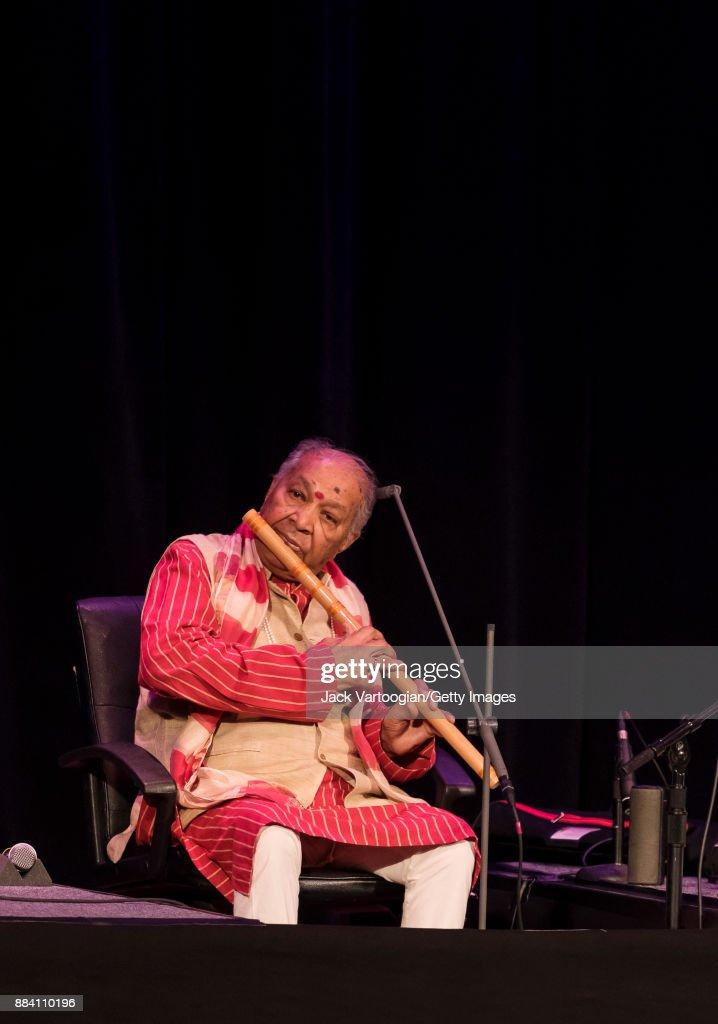 Hariprasad Chaurasia At Kaufmann Concert Hall : News Photo