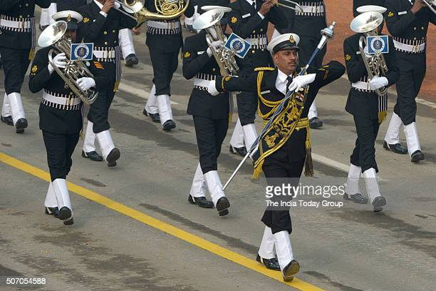 Indian Coast Guard march during the 67th Republic Day Parade at Rajpath in New Delhi