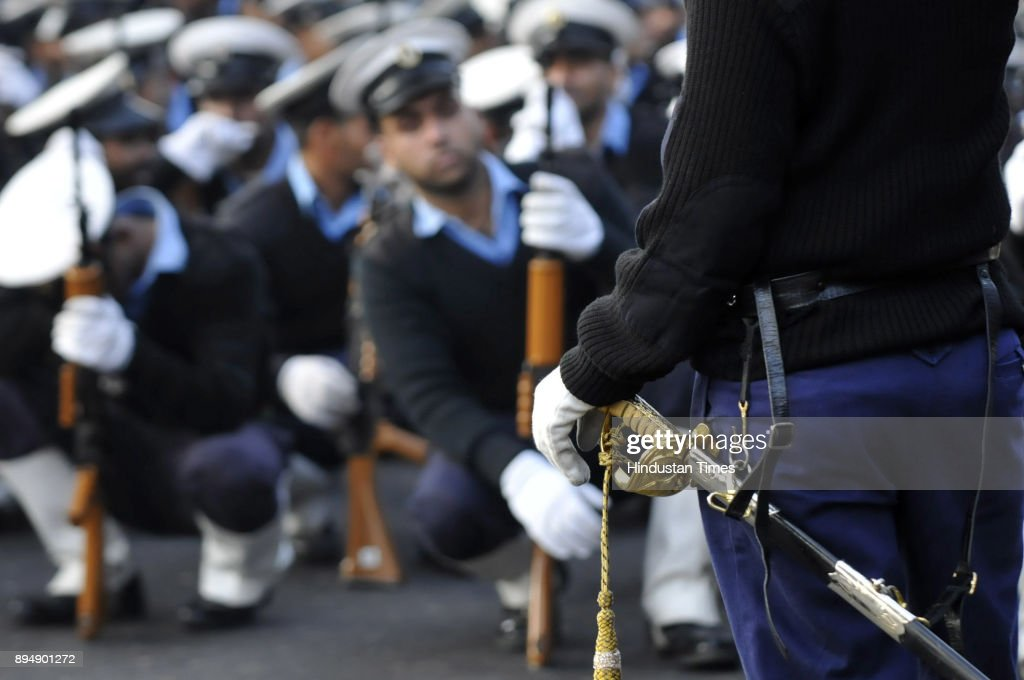 Indian Coast Guard Personnel During Rehearsal Parade Ahead For Republic Day
