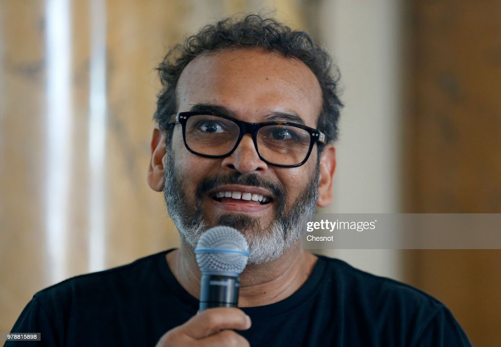 Artist Subodh Gupta Gives A Press Conference At Monnaie De Paris