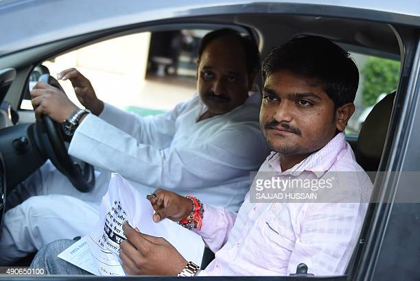 Indian convenor of the 'Patidar Anamat Andolan Samiti' movement Hardik Patel attends a press conference in New Delhi on September 30 2015 Patel led...