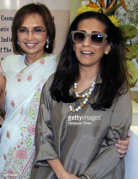 Indian Cosmetic Dermatologist Rekha Sheth with Sunita Kapoor wife of Bollywood actor Anil Kapoor pose during the celebration of her Maria Duran...