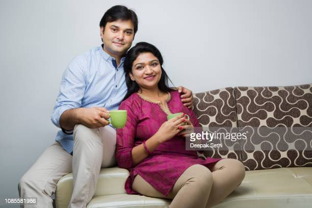 indian couple - stock images - two parents stock pictures, royalty-free photos & images