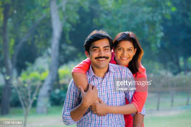 indian couple - stock images - husband wife stock pictures, royalty-free photos & images