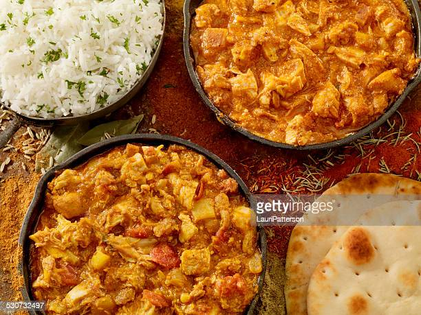 indian cousine - chicken tikka stock photos and pictures