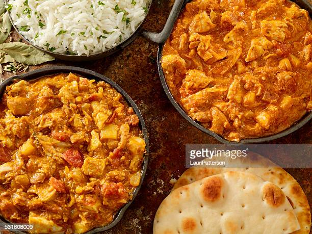 indian cousine - chicken masala stock photos and pictures