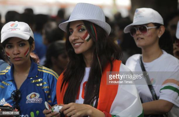 Indian Cricket Fans for Final match between India and Srilanka at Wankhede Stadium in Mumbai