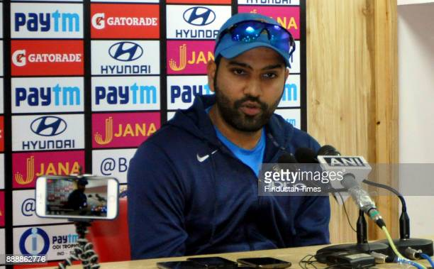 Indian Cricket player Rohit Sharma, ahead of his first assignment as ODI captain, during a press conference at Himachal Pradesh Cricket Association...