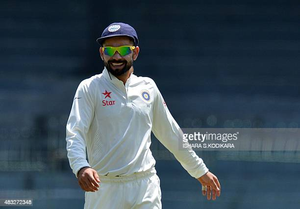 Indian cricket team captain Virat Kohli looks on during the second day of the threeday warmup match between Sri Lanka Board President's XI and India...