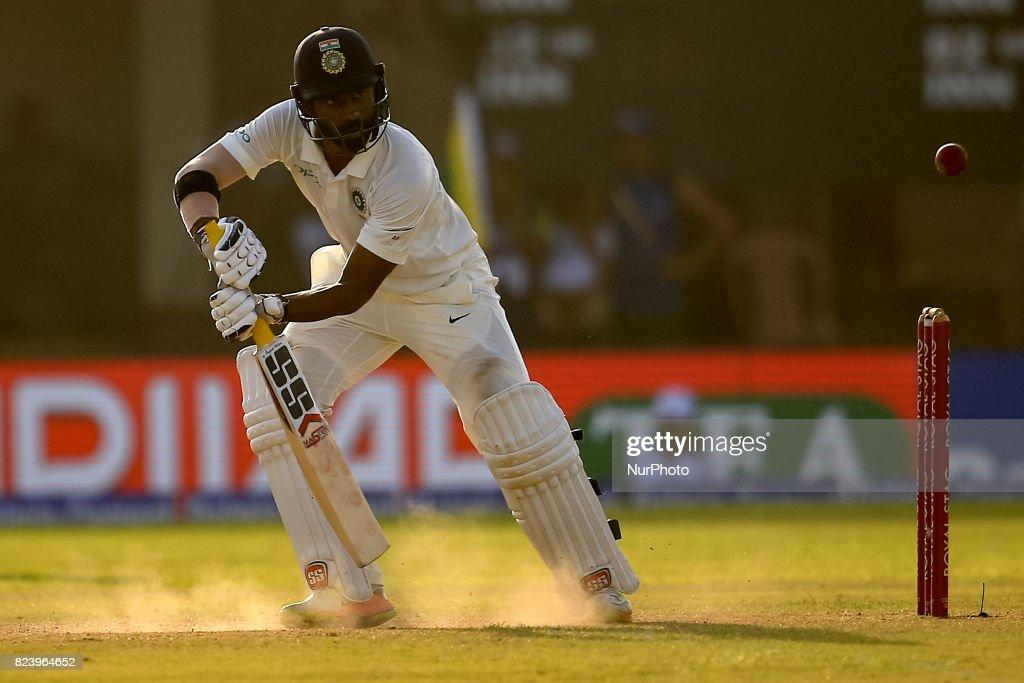 Sri Lanka v India - Cricket, 1st Test Day 3 : News Photo