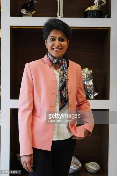 Indian cricketer Anjum Chopra during an unveiling of the Luxury Wedding collection of Momentz located at E21 second floor South Extension Market Part...