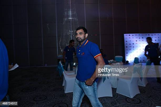 Indian cricketer Mohammed Shami during party thrown for Delhi Daredevils team players on April 3 2015 in New Delhi India