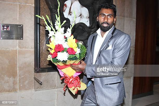 Indian Cricketer Parvinder Awana during the wedding reception of Indian Cricketer Yuvraj Singh and Bollywood actor Hazel Keech at ITC Maurya on...