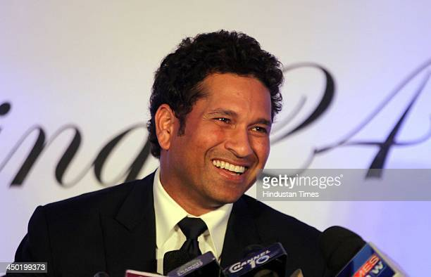 Indian Cricketer Sachin Tendulkar addresses the press conference a day after he retired from International cricket after playing his 200th and final...