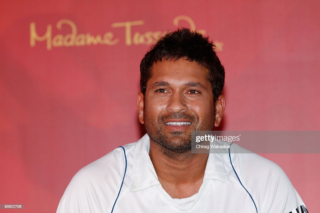 Sachin Tendulkar Waxwork Unveiled At Hotel Taj Lands End : News Photo