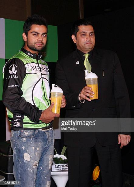 Indian Cricketer Virat Kohli at the press conference of Herbalife India Herbalife a global nutrition company on Thursday signed Virat Kohli to...