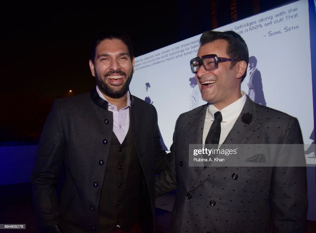 Indian Cricketer Yuvraj Singh And Fashion Designer Ashish N Soni News Photo Getty Images