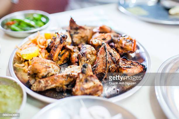 Indian cuisine - Grilled Tandoori chicken