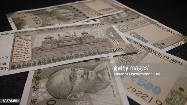 Indian currency 500 rupees notes