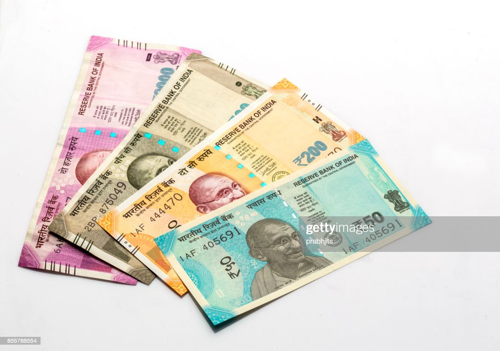 Indian Currency Note 50 Rupees Stock Photo - Getty Images