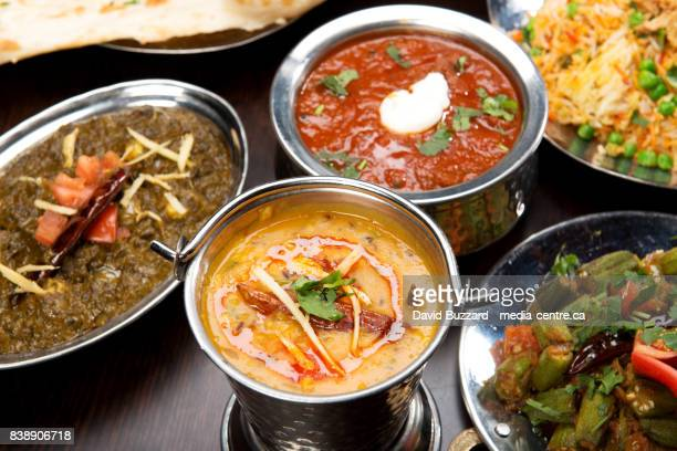 indian curry at an indian restaurant. - indian food stock photos and pictures