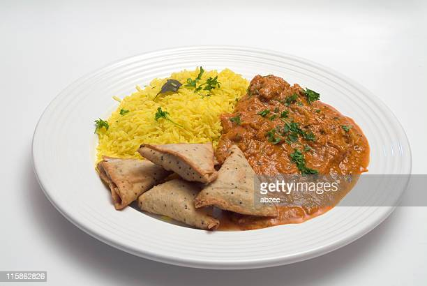 indian curry - chicken masala stock photos and pictures