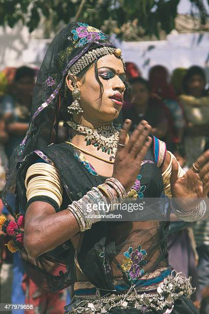 indian dance performer - hermaphrodite humans stock photos and pictures