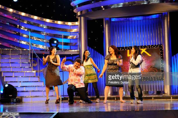 Indian Dancer and Actress Aditi Bhagwat on the set of her televised dance show on April 17 2010 in Mumbai India
