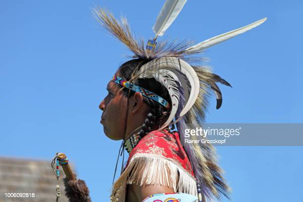 Indian dancer at Plains Indian Museum Pow-wow