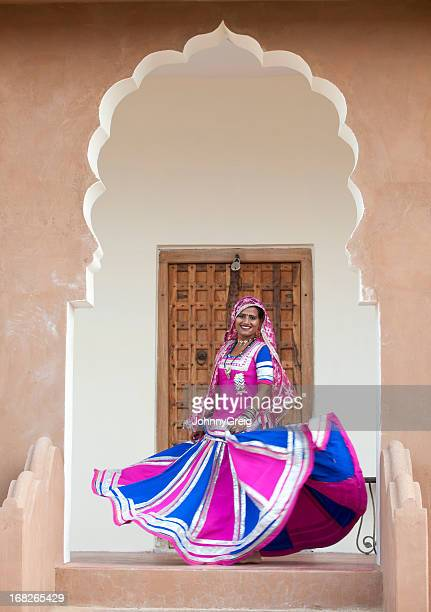 Indian Dancer Woman Twirling her Skirt