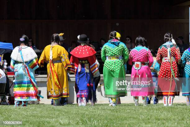 Indian dancers at Plains Indian Museum Pow-wow