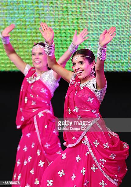 Indian dancers perform during the Opening Ceremony ahead of the ICC 2015 Cricket World Cup at Sidney Myer Music Bowl on February 12 2015 in Melbourne...