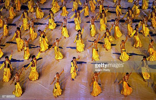 Indian dancers present a Bollywood performance during the Closing Ceremony for the Melbourne 2006 Commonwealth Games at the Melbourne Cricket Ground...