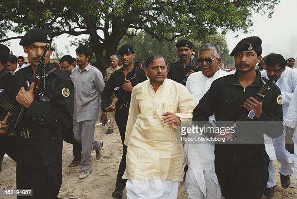 Indian Defence Minister Mulayam Singh Yadav, who belongs to a lower caste, India, 1996.
