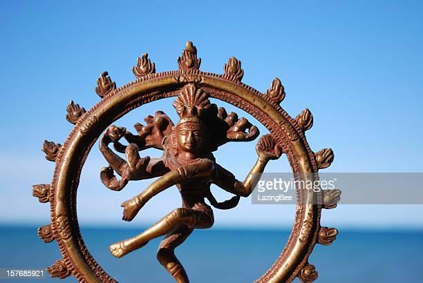 indian deity shiva nataraja statue - shiva stock photos and pictures