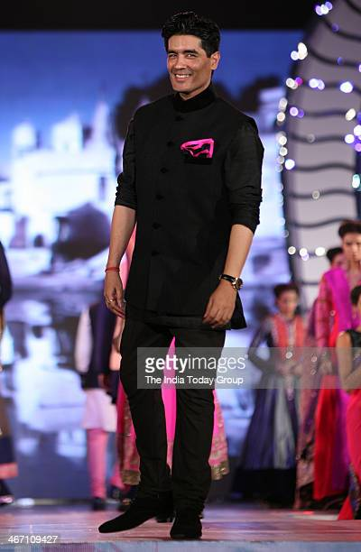 Indian designer Manish Malhotra during his fashion show to support the cause of saving and empowering the female child in Mumbai