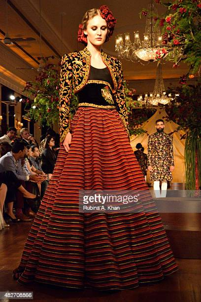 Indian designer Rohit Bal presented his couture collection on day four of the Fashion Design Council of India's Amazon India Couture Week 2015 on...