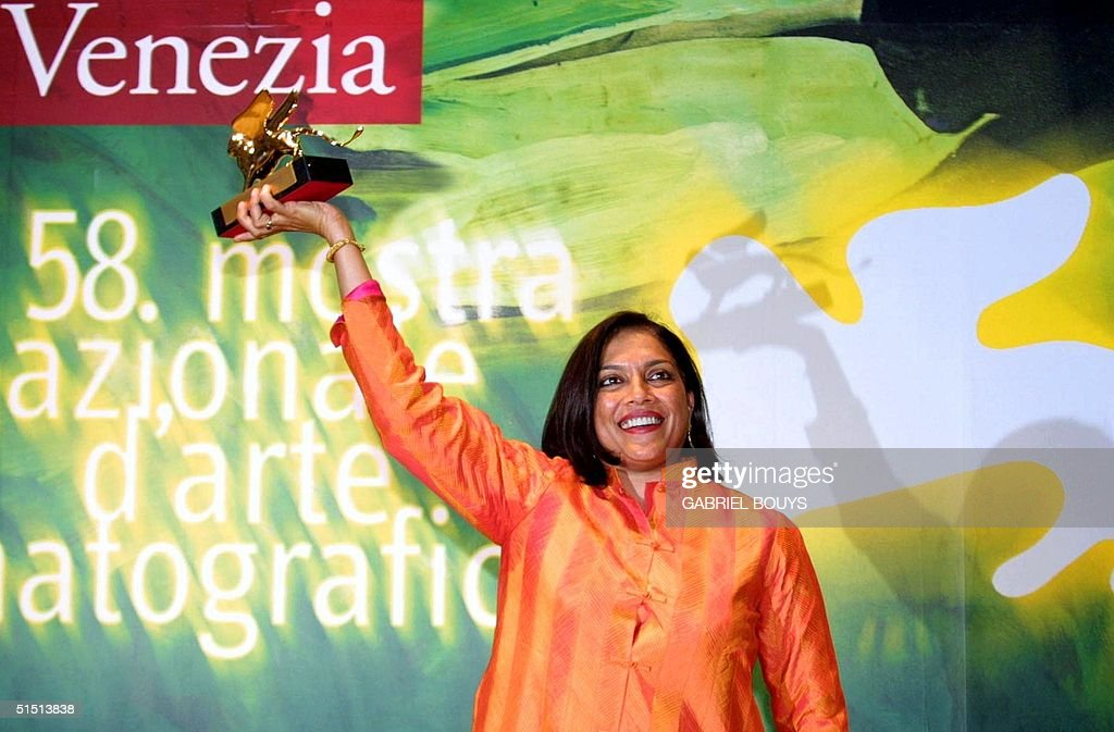 Indian director Mira Nair poses with the Golden Li : News Photo