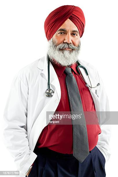 Indian Doctor Wearing a Turban - Isolated