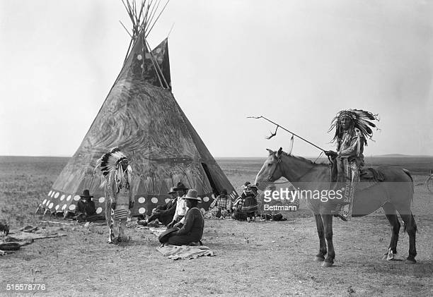 Indian encampment on the Great Plaines Photograph ca 1890