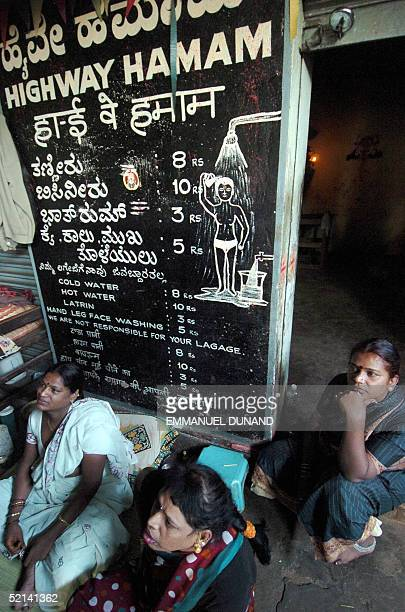 Indian eunuch wait for customers at a hamam at a truck halt point along a national highway in Nelamangala 21 January 2005 Transport Corp of India...