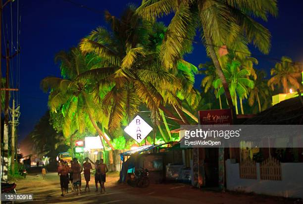 Indian families children men women teenagers boys and girls visiting the nightlife and entertainment area of Cherai Beach Vypeen Island in the Cochin...