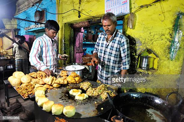 indian family food stall