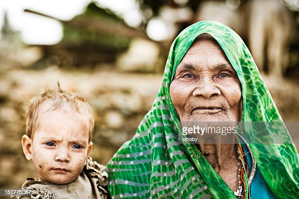indian farmer - ugly baby stock photos and pictures