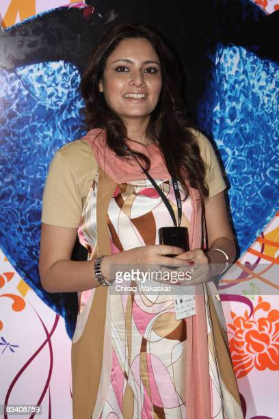 Indian fashion designer Agnimitra Paul arrives for of the Lakme Fashion Week 2008 at NCPA on October 23 2008 in Bombay India
