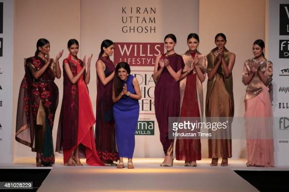 Indian Fashion Designer Kiran Uttam Ghosh With Models Walk On The News Photo Getty Images