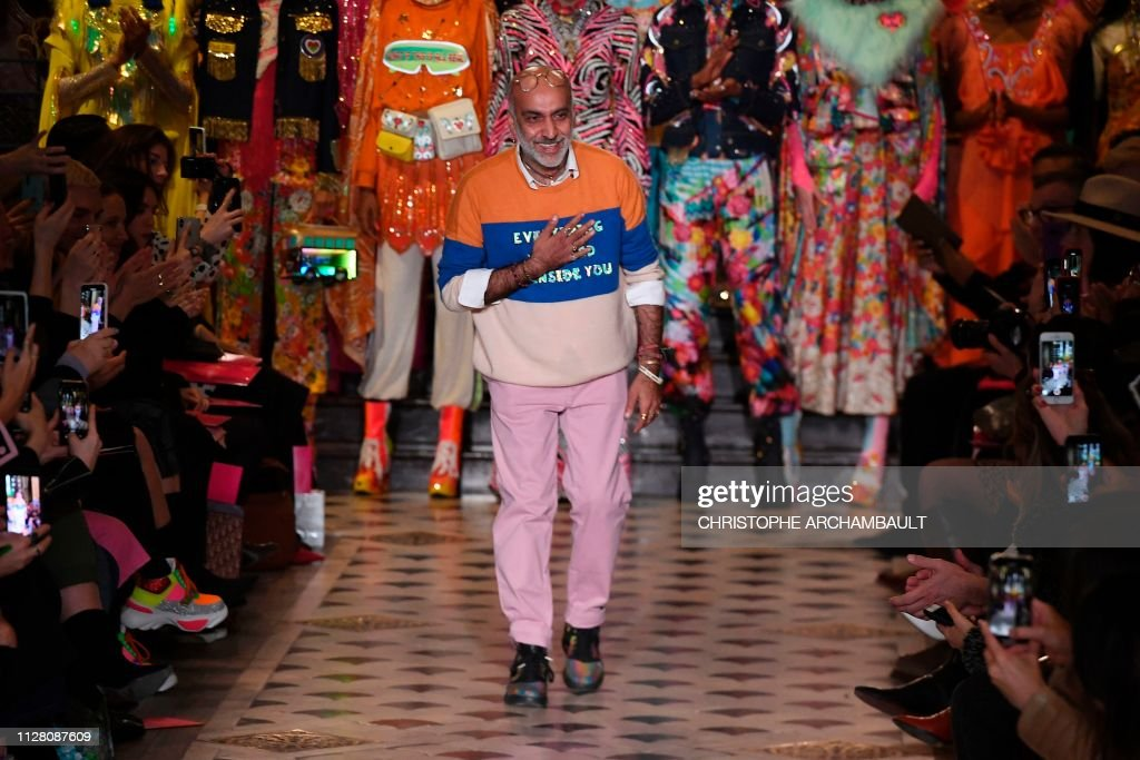 Indian Fashion Designer Manish Arora Acknowledges The Audience At The News Photo Getty Images